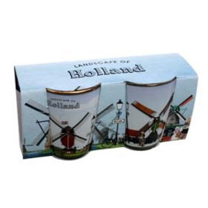 Typisch Hollands Shot glasses - set of 2 - Mills