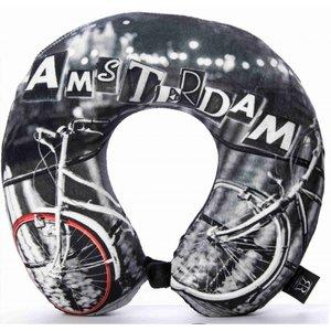 Robin Ruth Fashion Neck pillow - Bike - Amsterdam