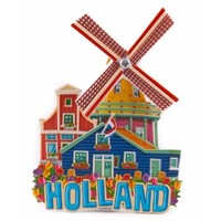 Typisch Hollands Magneet Holland Molen (draaiend)