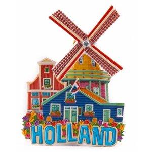 Typisch Hollands Magneet Holland Molen (draaiend)