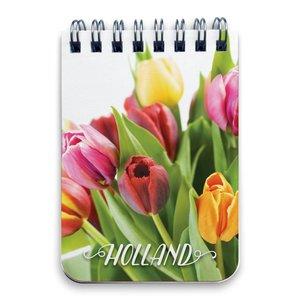 Typisch Hollands Notebook - Ring binder A7 Tulips