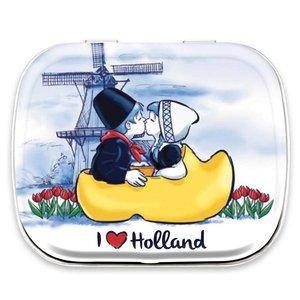 Typisch Hollands Blikje Minimints - Kuspaar in klomp