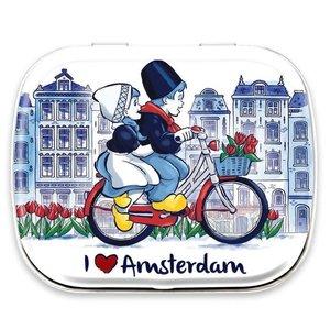 Typisch Hollands Mini - Mints Paar auf dem Fahrrad