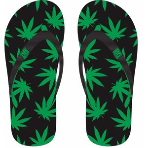 Robin Ruth Fashion Slipper Cannabis Glücklich -Green