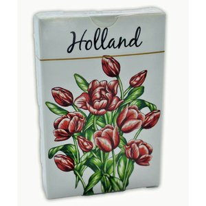 Typisch Hollands Playing Cards Tulips Red