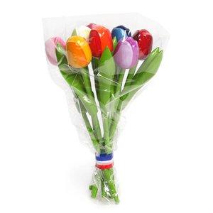 Typisch Hollands Tulpen aus Holz (20cm) MIX Bouquet.