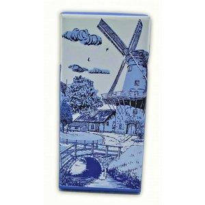 Typisch Hollands Chocolate tablet - Delft blue - Bridge at Molen