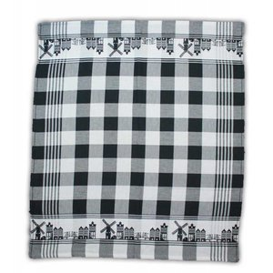 Typisch Hollands Tea towel black and white Holland