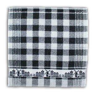 Typisch Hollands Kitchen towel Black White facades - skyline