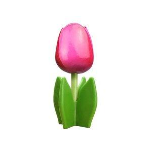 Typisch Hollands Holz Tulpe auf 14 cm Fuß - Deep - Pink