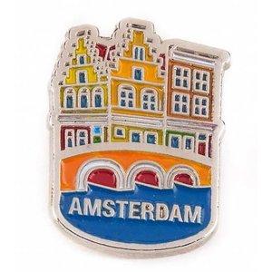 Typisch Hollands Pin huisjes Amsterdam zilver