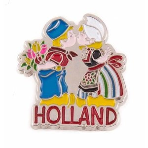 Typisch Hollands Pin kussend paar Holland zilver