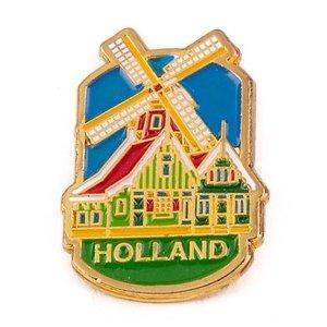 Typisch Hollands Pin molen huisjes Holland goud