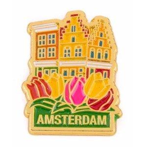 Typisch Hollands Pin huisjes Amsterdam goud