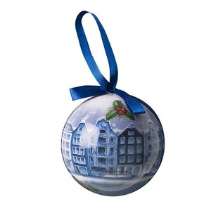 Typisch Hollands Delft blue Christmas ball in Giftbox - Plastic