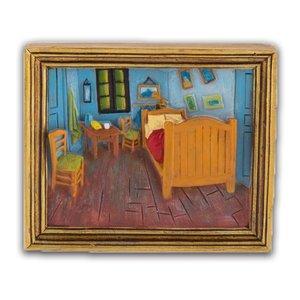 Typisch Hollands Magneet minischilderij Slaapkamer - Vincent van Gogh