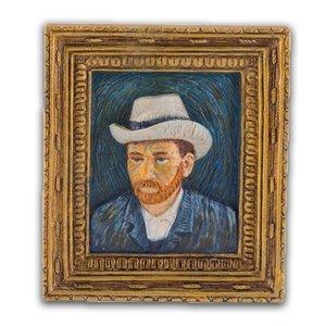 Typisch Hollands Magneet Minischilderij  Zelfportret - Vincent van Gogh