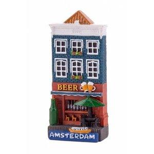 Typisch Hollands Magnetfassadenhaus Biergeschäft Amsterdam