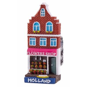 Typisch Hollands Magneet gevelhuisje Flower shop Holland