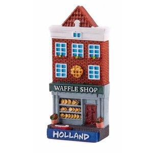 Typisch Hollands Magnetfassadenhaus Waffelgeschäft Holland