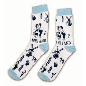 Typisch Hollands Socks Delft blue size 40-46