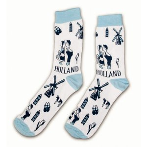 Typisch Hollands Socks Delft blue size 35-41