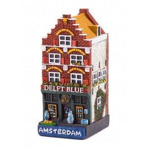 Typisch Hollands Gevelhuisje Delftblue Geschäft Amsterdam