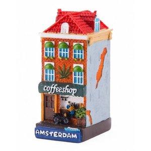 Typisch Hollands Fassade Haus Coffeeshop Amsterdam