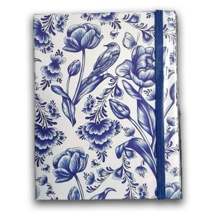 Typisch Hollands Notebook Delft blaue Tulpen