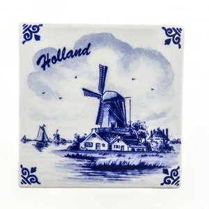 Typisch Hollands Delft blue tile - Polder -Molen - Holland
