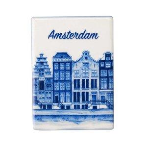 Typisch Hollands Magneet Tegel - rechthoek Amsterdam staand