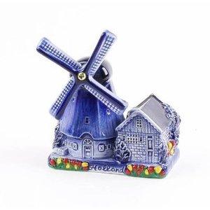 Typisch Hollands Delfts blauwe poldermolen 10 cm