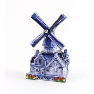 Typisch Hollands Delfts blauwe dorpsmolen 10 cm