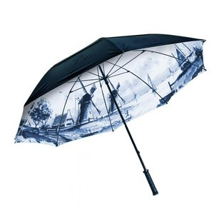 Typisch Hollands Umbrella - Delft blue painting