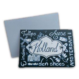 Typisch Hollands Double greeting card - Holland - (Blue-White)