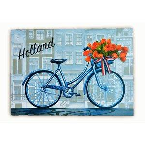 Typisch Hollands Einzelkarte - Delfter Blau - Holland - Fahrrad