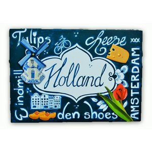 Typisch Hollands Einzelkarte - Delftware - niederländische Ikonen
