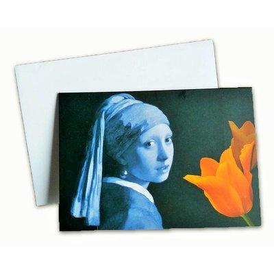 Typisch Hollands Doppelgrußkarte - Holland - Mädchen mit der Perle