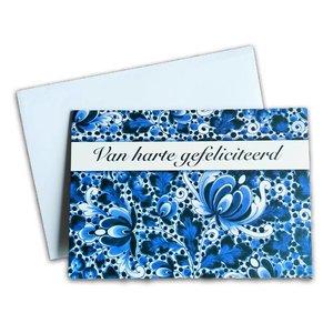 Typisch Hollands Double greeting card - Delfts - van Harte Congratulations