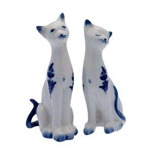 Typisch Hollands Delft blue cats - set of 2