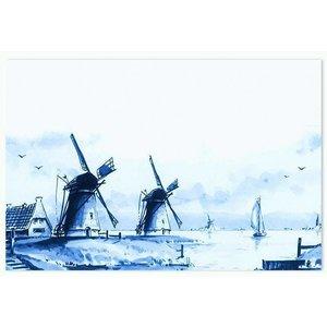 Typisch Hollands Tischset - Delfter Blau Mills