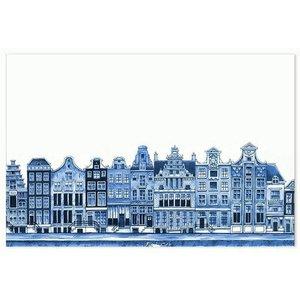 Typisch Hollands Tischset - Delft Blue Fassadenhäuser