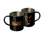 fox stainless black xl mug
