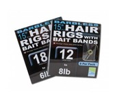 """preston pr36 15"""" hair rigs with bait bands (barbless)"""