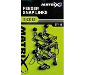 matrix fishing feeder snap links