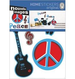 Nouvelles Images Wandaufkleber Peace & Music