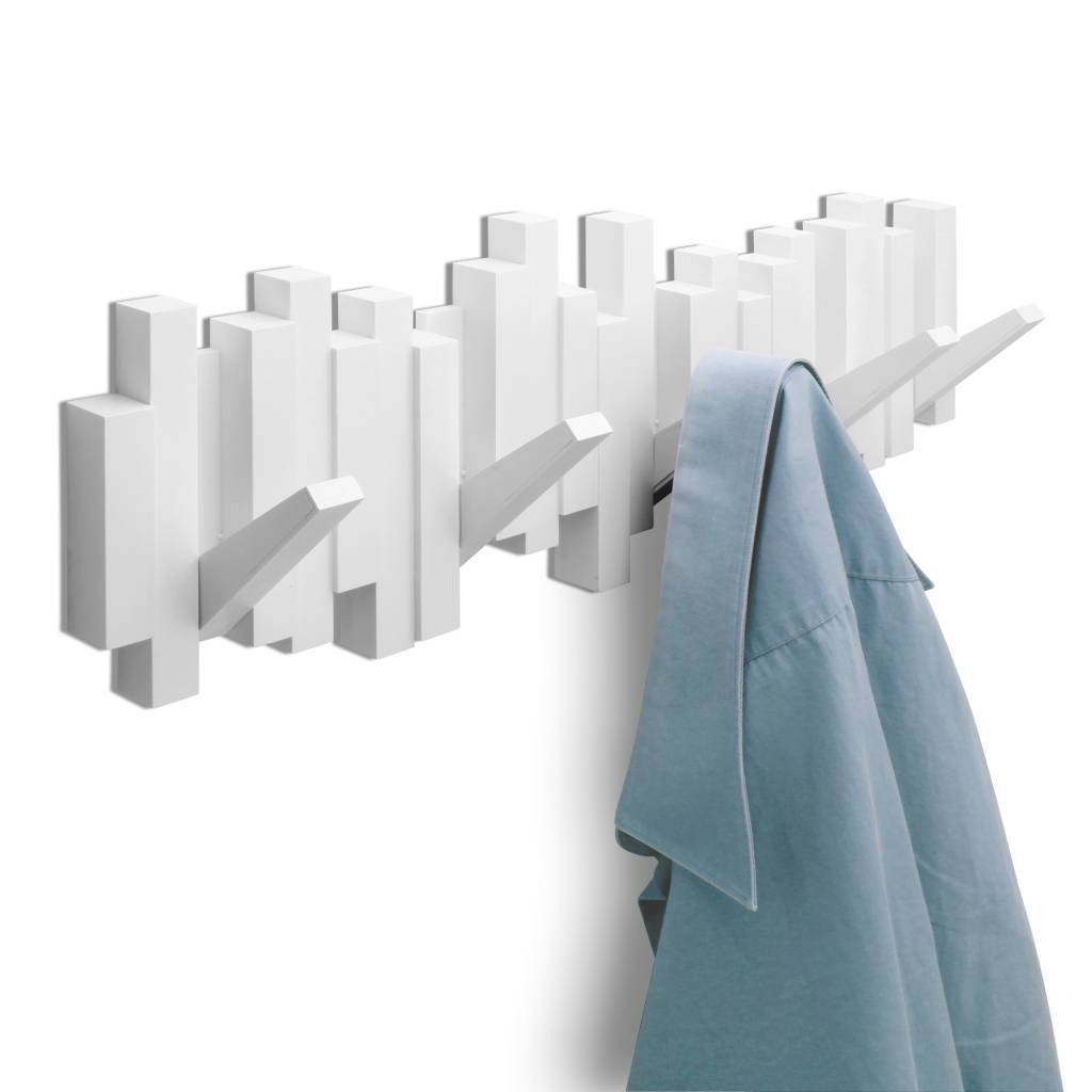 Umbra Coat Rack Sticks Multi Hook White