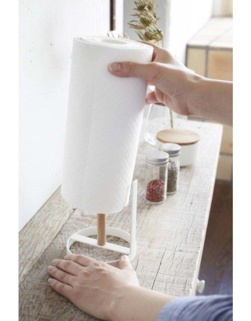 Yamazaki Kitchen Roll Holder Tosca White Kado In Huis