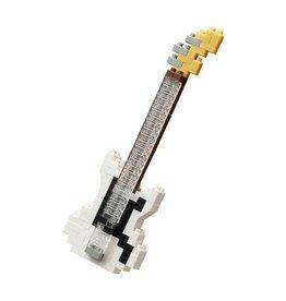 Nano Blocks Bausatz Elektrische Bassgitarre Weiß