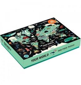 Mudpuppy Puzzle Deine Welt 1000st